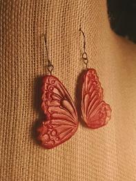 Red Butterfly Earrings1